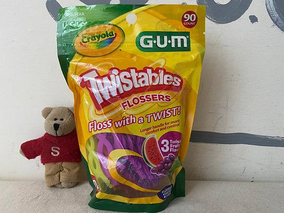 【Sunny Buy】Crayola GUM Twistables Flossers / 3 Floavors / 90ct (#20039)