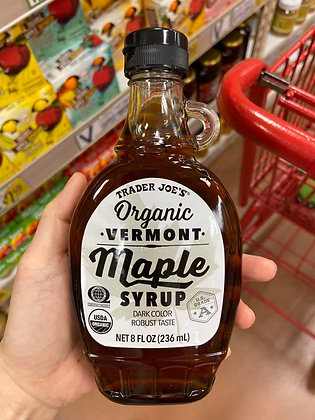【Sunny Buy】Trader Joe's Organic Vermont Maple Syrup 8oz (#16288)