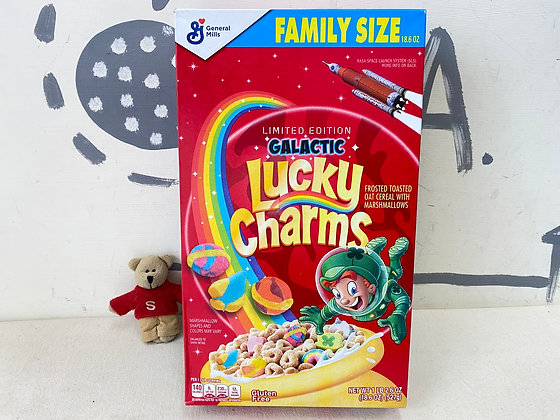 【Sunny Buy】Lucky Charms Galactic / Original Cereal /Family Size 18.6oz