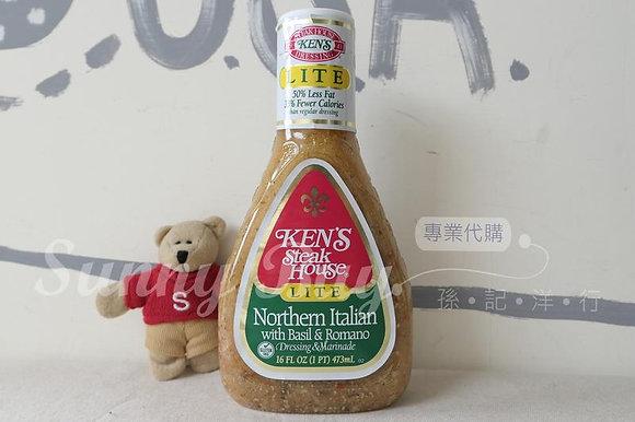 【Sunny Buy】Ken's Lite Northern Italian with Basil & Romano Dressing 16oz(#10326)