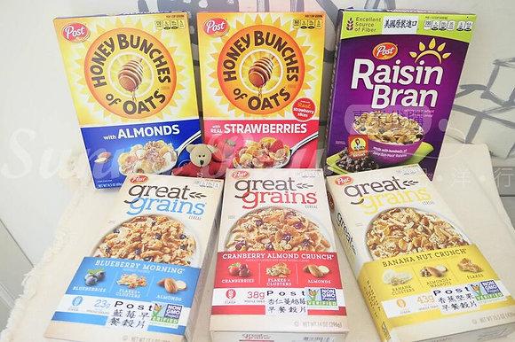 【Sunny Buy】Post Honey Bunches of Oats / Raisin Bran / Great Grains Cereal