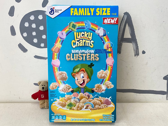 【Sunny Buy】Lucky Charms Marshmallow Clusters Family Size 17.6oz (#20563)