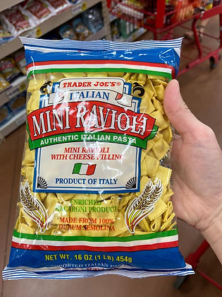 【Sunny Buy】Trader Joe's Italian Mini Ravioli w. Cheese Filling 1lb (#16490)