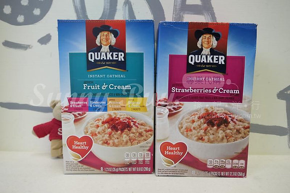 【Sunny Buy 】Quaker Oatmeal Fruit & Cream 8ct Box / Strawberries & Cream 10ct Box
