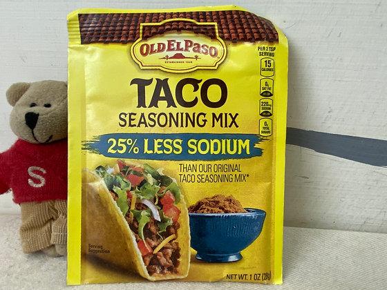 【Sunny Buy】Old El Paso TACO Seasoning Mix / 25% Less Sodium 1oz (#20186)
