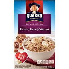 【Sunny Buy】Quaker Oatmeal Raisin, Date & Walnut Instant 10ct 370g (#12515)