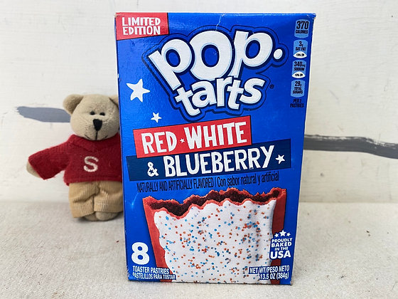 【Sunny Buy】Pop-Tarts Red, White & Blueberry 8 Toasters 13.5oz (#20526)