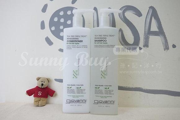 【Sunny Buy】Giovanni Tea Tree Triple Treat Hair Shampoo & Conditional 1000ml