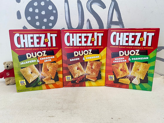 【Sunny Buy】CHEEZ-IT Baked Snack Crackers DUOZ (2 Flavors) 12.4oz