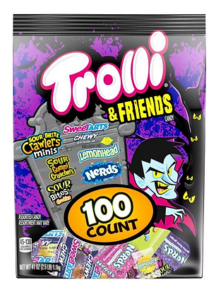 【Sunny Buy】Trolli & Friends Halloween Candy Pack 41oz/100ct(#17912)