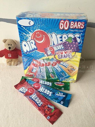 【Sunny Buy】Airheads Chewy Fruit Taffy Candy Bars 60 Bars 2.06lbs (#3652)
