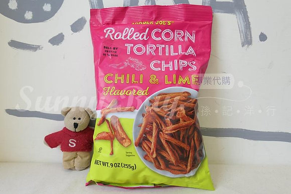 【Sunny Buy】Trader Joe's Rolled Corn Tortilla Chips Chili & Lime 9oz (#13340)