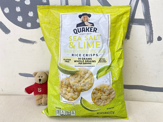 【Sunny Buy】 Quaker Sea salt & Lime Rice Crisps 6.06oz