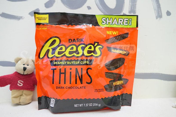 【Sunny Buy】Reese's Thins Peanut Butter Cups Dark Chocolate 7.73oz (#14217)
