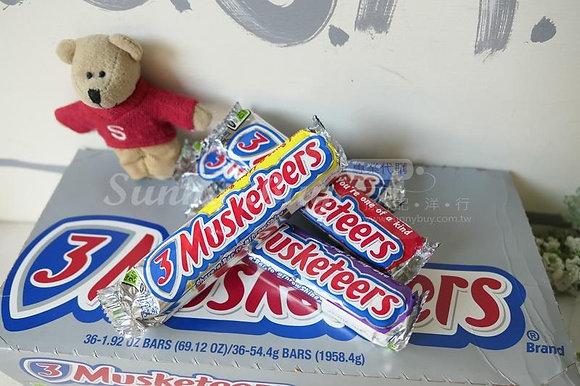 【Sunny Buy】3 Musketeers Chocolate Bar 1.92oz (#9582)
