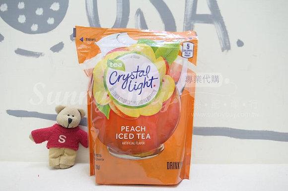 【Sunny Buy】 Crystal Light Peach Iced Tea 16 Pitcher Packs 4.55 oz (#17432)
