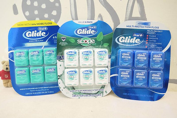 【Sunny Buy】Oral-B Glide Floss 6ct (44m*6) Multi-Protection/Scope/Comfort Plus