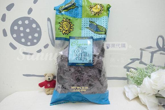 【Sunny Buy】Trader Joe's Organic Blue Corn Chips 16oz (#14585)