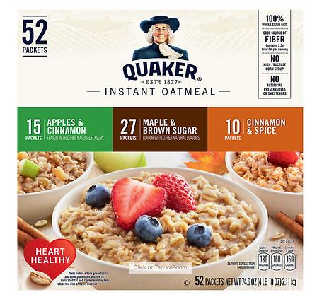 【Sunny Buy 】Quaker Oatmeal Maple&Brown Sugar/Apples&Cinnamon/Cinnamon Spice 52ct