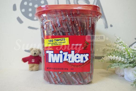 【Sunny Buy】Twizzlers Strawberry 180 Straws Bucket 57.5oz (#0809)