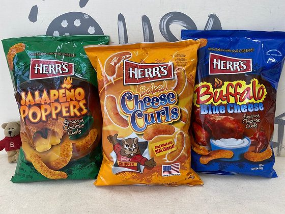 【Sunny Buy】Herr's Cheese Curls / Jalapeno Poppers / Buffalo Blue Cheese