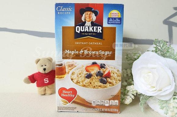 【Sunny Buy 】Quaker Oatmeal Maple Brown Sugar 10ct / 15.1oz (#7769)