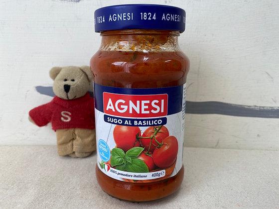 【Sunny Buy】Agnesi Sugo Al Basilico 14.1oz Pasta Sauce (#20212)