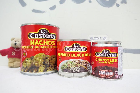 【Sunny Buy】 La Costena Pickled Jalapeno/Refried Black Beans/Diced Chipotles