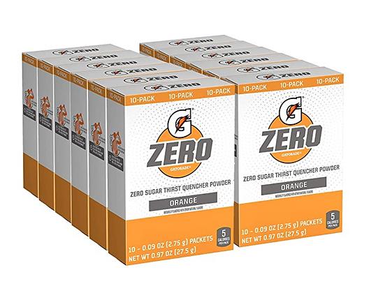 【Sunny Buy】Gatorade G Zero Powder Orange Sugar Free 12 Box Pack (120 Packets) )