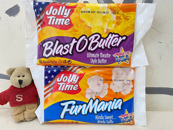 【Sunny Buy】Jolly Time Microwave Popcorn 100g / Blast O Butter & Fun Mania 100g