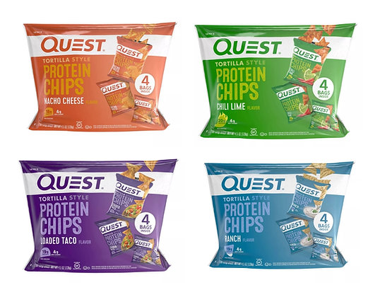 【Sunny Buy】Quest Tortilla Style Protein Chips 4 Bags 4.5oz (4 Flavors)