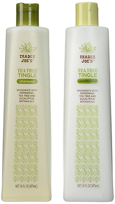 【Sunny Buy】Trader Joe's Tea Tree Tingle Shampoo and Conditioner16oz