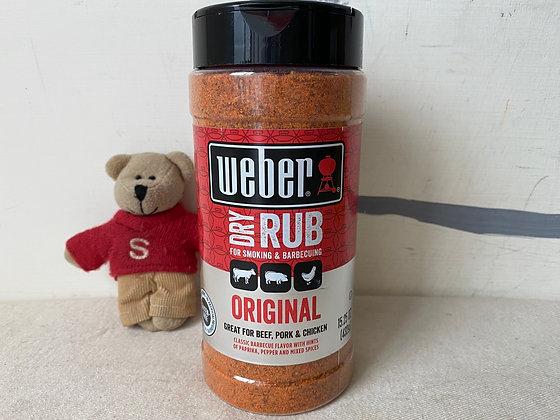 【Sunny Buy】 Weber Dry Rub / Original 15.25oz For Smoking & BBQ  (#17104)