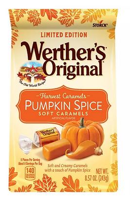 【Sunny Buy】Werther's Original Pumpkin Spice Soft Caramels  Halloween Bag 8.57oz