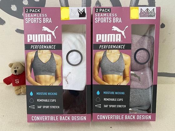 【Sunny Buy】Puma Ladies Sports Bra ( 2 Colors Set) S/M/L/XL