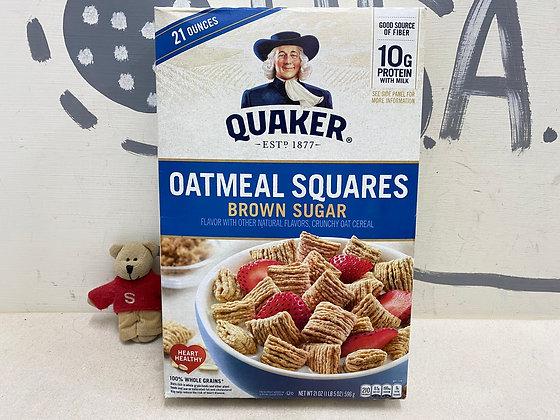 【Sunny Buy】Quaker Oatmeal Squares Cereal / Brown Sugar 21oz