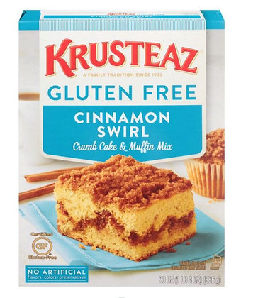 【Sunny Buy】Krusteaz Gluten Free Cinnamon Swirl Crumb Cake & Muffin Mix 20oz