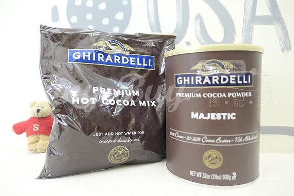 【Sunny Buy】Ghirardelli Premium Hot Cocoa Mix 908g & Cocoa Powder/Majestic 32oz
