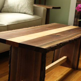 Walnut Coffee Table with Maple Inlay