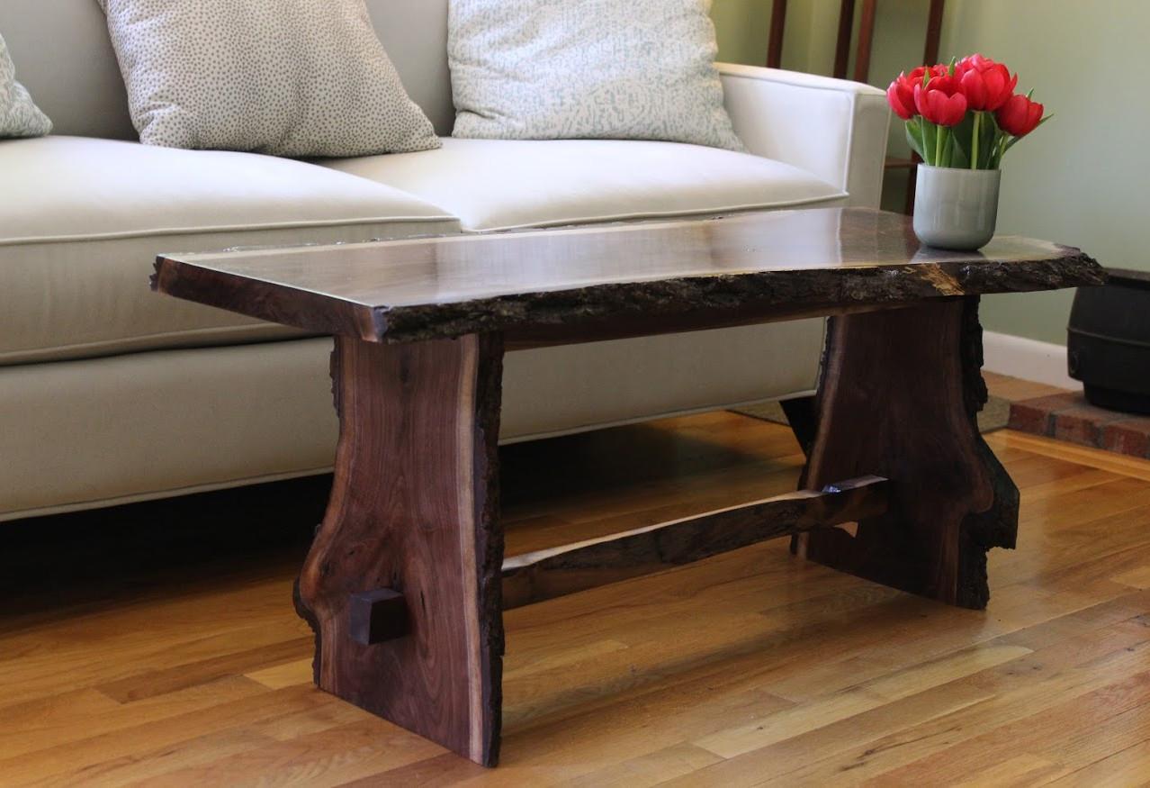 Walnut Coffee Table/Bench