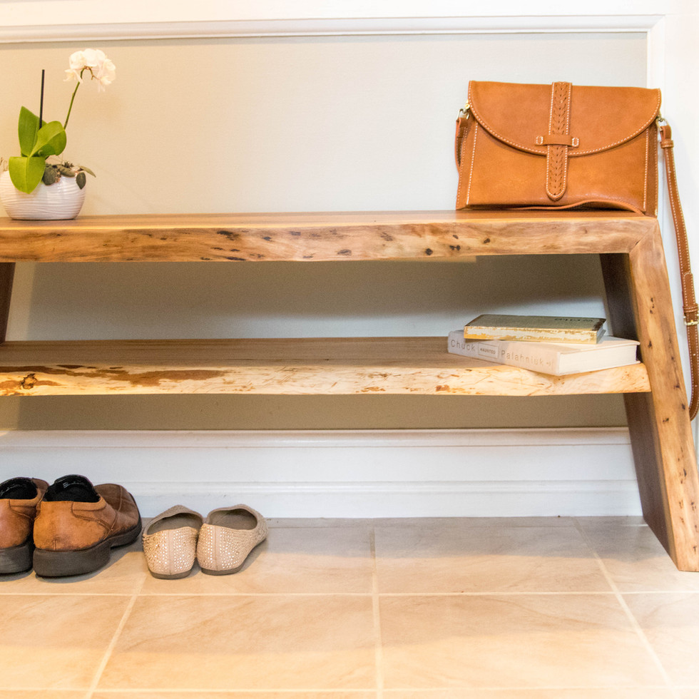 Walnut Entryway Table/Bench