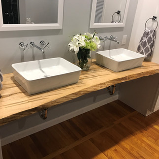 Ambrosia Maple Bathroom Counter