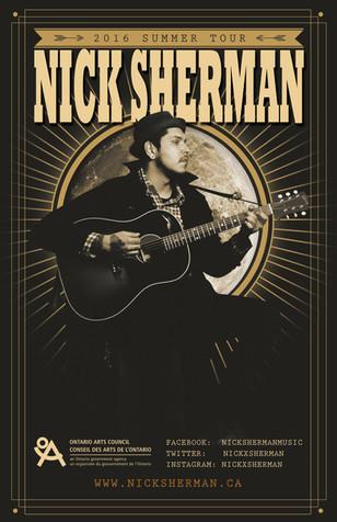 Nick Sherman Concert Schedule Poster