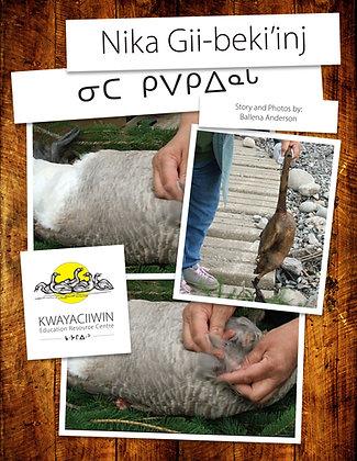 Cleaning a Goose (Ojibwe RO & Syllabics)