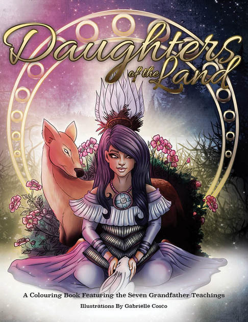 Daughters of the Land Colouring book
