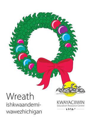 Christmas Flashcards - Ojibwe RO