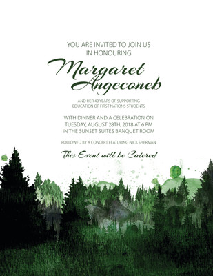 Margaret's Retirement Party Invites