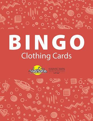 Clothing Bingo Cards