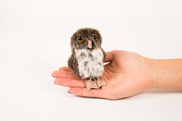 Spotted Owl Finger Puppet