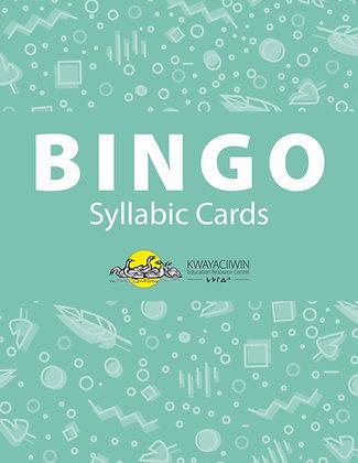 Syllabics Bingo Cards